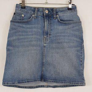 Calvin Klein Blue Denim Skirt, Size 24, AU 6